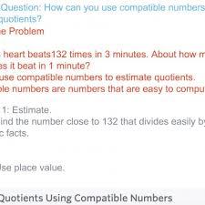 fourth grade lesson 4 5 estimating quotients using compatible