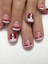 best 20 santa hat nails ideas on pinterest xmas nails xmas
