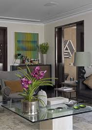 Accent Chair With Brown Leather Sofa Interior Terrific Brazilian Style Living Room With Brown Leather