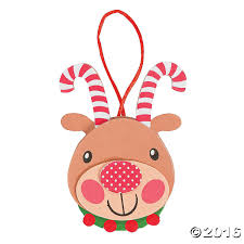 12 foam antler reindeer ornament craft kit