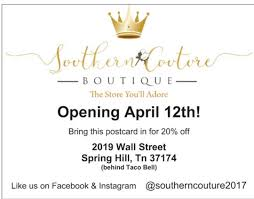 boutique inauguration invitation southern couture boutique opening april 12th u2013 chapelhilltn com