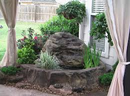 courtyard bliss waterfall pond kit universal rocks
