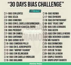 Challenge Que Significa 30 Days Bias Challenge D 3 Bias Comiendo K Pop Amino