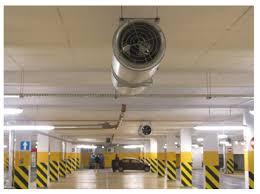 new underground parking garage ventilation concept reduces