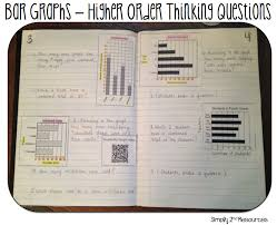 simply 2nd resources math notebook bar graphs