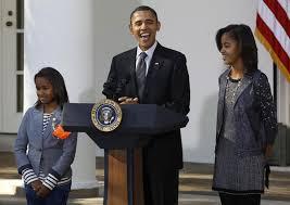 obama pardons turkey at thanksgiving day
