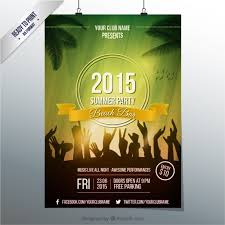 summer party poster template vector free download