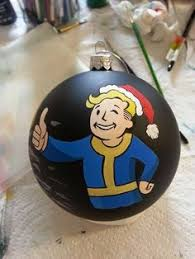 the fallout wanderer ornament set comes with 4 ornaments nuka cola