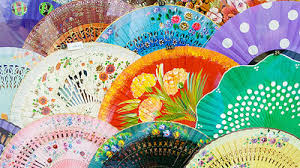 decorative fans madrid cheap souvenir fans eurocheapo