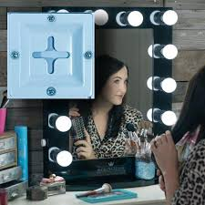 Movie Star Vanity Moviestar Hollywood Vanity Mirror 12 Led Lights Dual Outlets 22