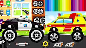 bigfoot presents meteor and the mighty monster trucks monster truck police car ambulance fire truck for children