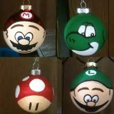 mario glass ornament 6 pack by kateschristmas on etsy