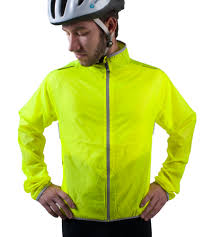 bicycle jacket atd windbreaker jacket visibility yellow men u0027s