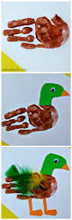 mallard duck handprint craft for kids mallard craft and duck crafts