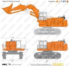 the blueprints com vector drawing hitachi ex1200 5c excavator