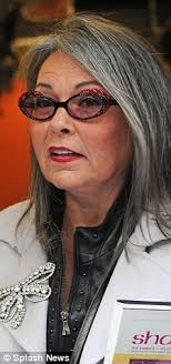 looking with grey hair growing old gracefully a grey haired roseanne barr is showing her