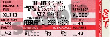 super bowl party invitation template super bowl party ticket invitations send unique ticket