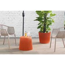 burnt orange coffee table burnt orange side table planter free shipping today overstock
