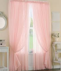 Light Pink Curtains For Nursery Sheer Voile Curtains In Soft Pink Filters Light Through Your