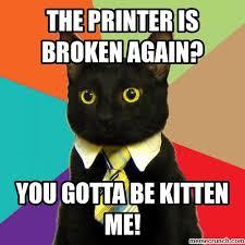 Printer Meme - kitty