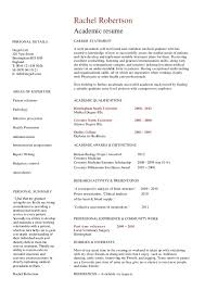 Example Of Academic Resume by Academic Resume Template