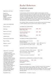Academic Resume Builder Academic Resume Template Hashdoc