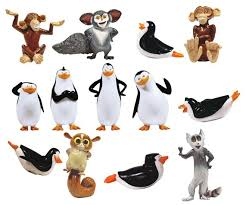 buy penguins madagascar figurines sliders vending capsules