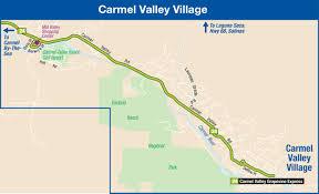 Grapevine Map Carmel Valley Village Monterey Salinas Transit