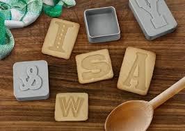 diy letterpress diy letterpress cookies