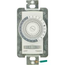 24 hr timer light switch defiant 15 amp 24 hour indoor in wall mechanical timer switch 49829
