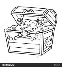 treasure chest clipart black and white free collection