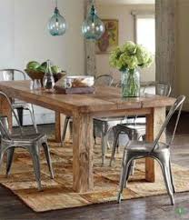 Weathered Wood Dining Table Restoration Hardware Metal Chairs - Metal kitchen table