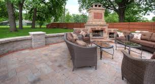 Stone Paver Patio Ideas by Patio Ideas Tips Winklers Lawn Care Landscape Outdoor Fireplace