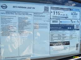 nissan leaf vin decoder 2013 nissan leaf sv window sticker photo 86708657 gtcarlot com