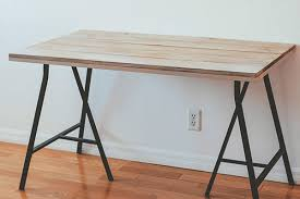 Diy Trestle Desk Diy Desk Wood Stained Desk Industrial Desk Diy