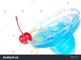 blue raspberry margarita blue margarita cocktail drink lemon twist stock photo 82707622