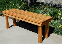 Redwood Patio Table Bench Outdoor Patio Bench Wood Outdoor Patio Bench Tenafly Deck