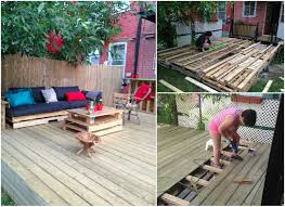 Patio Furniture Out Of Wood Pallets - terrasse exterieure en palettes outdoor deck made out of pallets