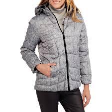 faded glory women u0027s hooded puffer jacket coat walmart com