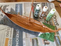 dux homunculorum revell viking ship finished