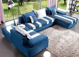Blue Leather Sectional Sofa Blue Colour Sofa Sets Okaycreations Net