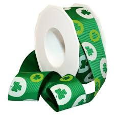 shamrock ribbon morex ribbon polyester lucky shamrock ribbon 1 1 2