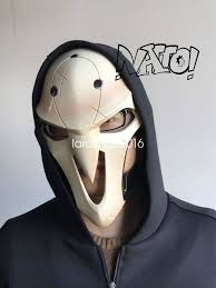 Halloween Motorcycle Costume Overwatch Reaper Gabriel Reyes Costumes Cosplay Abs Mask Prop