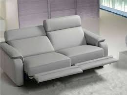 gorini canapé canape relax moderne canapac relaxation 3 places cuir noir cobra