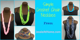 simple chain stitch necklace free crochet pattern youtube