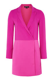 contrast panel blazer dress topshop
