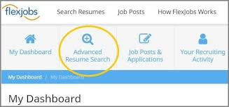 search resumes sourcing candidates use flexjobs advanced resume search for free