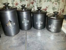fleur de lis canisters for the kitchen fleur de lis canisters coffee sugar all purpose flour self rising