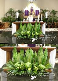 easter decorations for church sanctuary palm sunday church