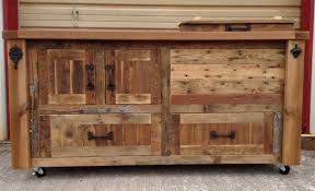 Reclaimed Kitchen Islands by Custom Reclaimed Or Barnwood Furniture Bar Cabinets Wooden